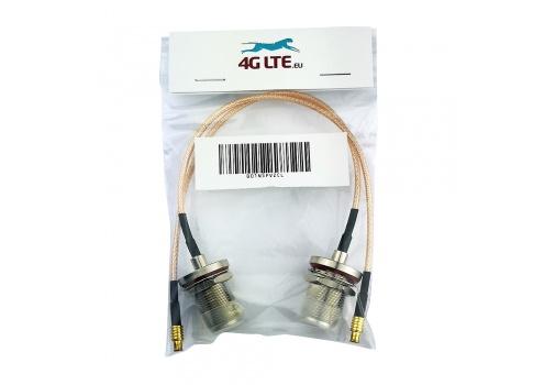 Un par de rectas MCX macho a cable oro N tabique hermético femenino de la Asamblea