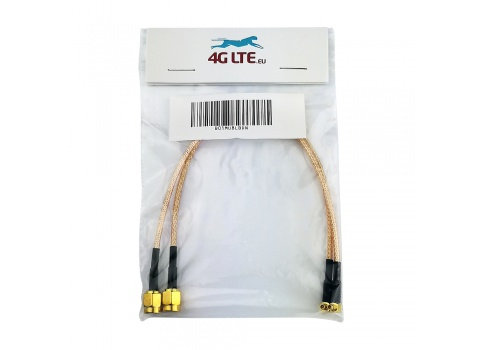 Une paire de RG316 SMA Male à connecteur à Angle droit MMCX mâle Câble assemblé