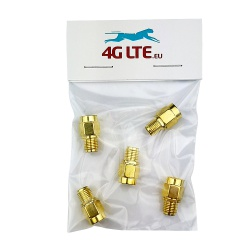 A SET of 3 x SMA Male to RP SMA Female Adapter
