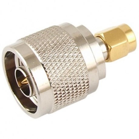 N-Type Male Plug to SMA Male Plug Straight RF Coaxial Adapter Connector