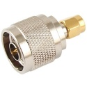 N-Type Male Plug to SMA Male Plug Straight RF Adapter Connector
