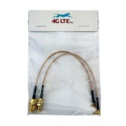 Une paire de câbles de l'Assemblée N de Cloison Femelle de SMA Mâle