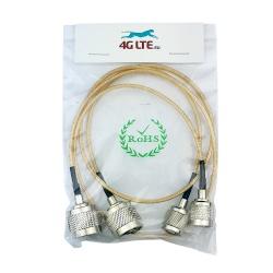 Un par de Cable de la Asamblea N Mamparo Hembra SMA Macho
