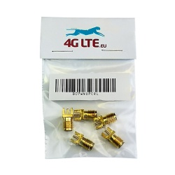 Pack of 5 x SMA Female Board Mount RF Connector