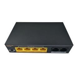 Interruptor 6 Puertos 4+2 Gigabit PoE Modelo: POE0402EEA