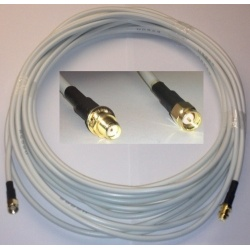 6 Meters universal SMA cable male to SMA female RG58 - white