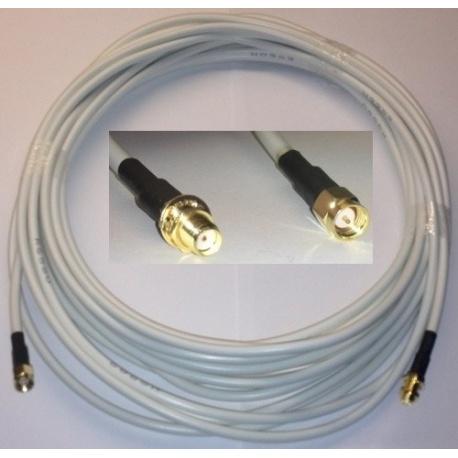 6 metros universal cable SMA macho a SMA hembra RG58 - blanco