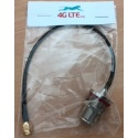 Cable Assembly N Bulkhead weiblich zu SMA-Stecker