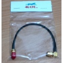 Cable Assembly SMA femelle vers mâle Angle droit SMA
