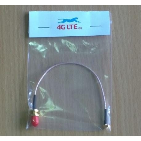 Cable conjunto de SMA hembra a macho MMCX ángulo recto
