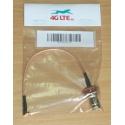 Cable montaje tabique hermético RP TNC hembra a ángulo recto MMCX macho