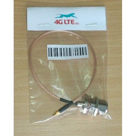 Cable Assembly N cloison femelle vers mâle MMCX droite