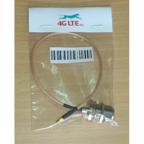 Cable ensamblado N tabique mujer recta MMCX macho