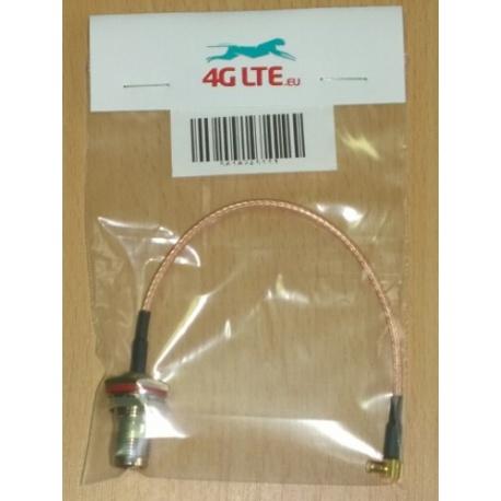 Cable ensamblado TNC hembra a MCX R / A (M)