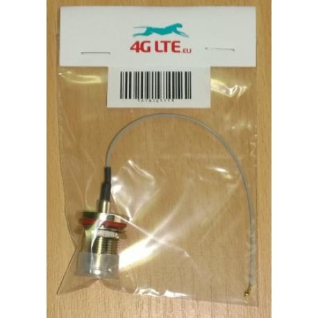 Kabelkonfektion U.FL TNC Bulkhead-Buchse