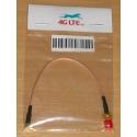Cable coaxial RG178, RP SMA hembra a ángulo recto MCX Hombre, 15 cm