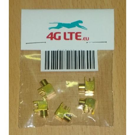 Paquete de 5 x MCX R / hembra para PCB