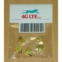 Packung mit 5 x MCX R / A Buchse für PCB