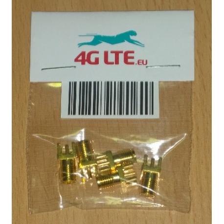 Paquete de 5 x SMA hembra Junta montaje conector de RF