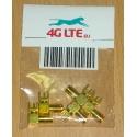 Pack de 5 x connecteur RF SMA R / A femelle pour PCB-2