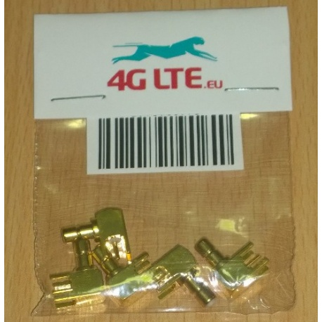 Paquete de 5 x R SMB / A macho para PCB