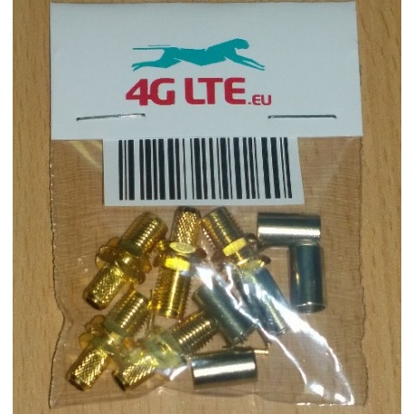 A SET of 5 x RF connector RP-SMA female adapter