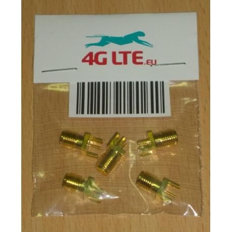 Pack de 5 x SMA femelle droite monture de PCB