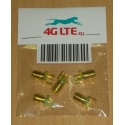 Pack of 5 x SMA female straight PCB mount