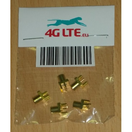 Pack of 5 x MCX Fem. st. board mount RF Connectors