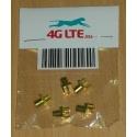 Paquete de 5 x MCX FEM. St. Junta de montaje conectores RF