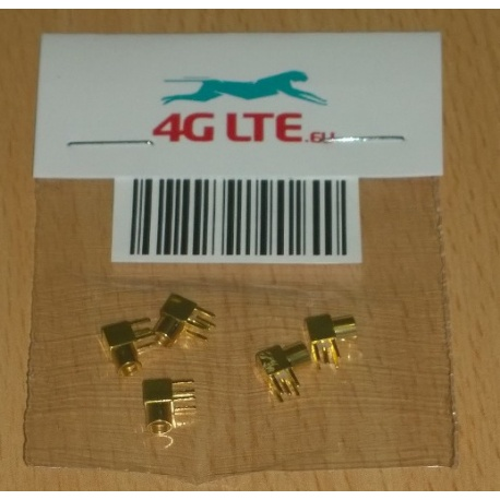 Pack of 5 x MMCX PCB Mount R/A
