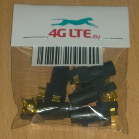 A SET of 5 x RF connector FAKRA-A-PCB