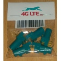 Pack de 5 x connecteur RF FAKRA-Z-PCB