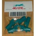 Paquete de 5 x RF conector FAKRA-Z-PCB