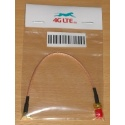 Câble coaxial RG178, RP SMA femelle à angle droit mâle MCX, 15 cm