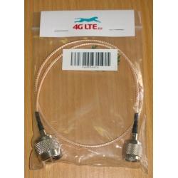 Cable ensamblado N macho a RP TNC macho 50 CM