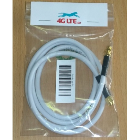 1m - SMA male to SMA female RG58 - white