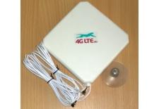 4G LTE double, square forme antenne 7dBi avec fin de CRC-9 (TS-5) x 2