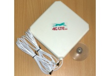 4G LTE dual, square shape Antenna 7dBi with 2 x CRC-9 (TS-5) end