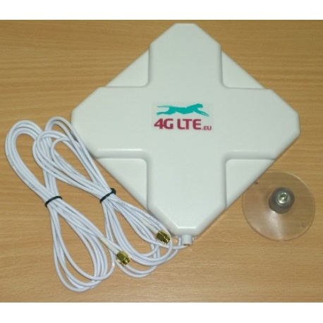 4G LTE dual, cross shape Antenna 7dBi with 2 x SMA end