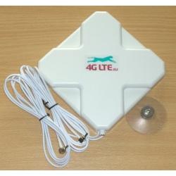 4G LTE dual, cross Shape Antenne 7dBi mit 2 X CRC-9 (TS-5) Ende