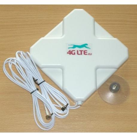 4G LTE dual, Cruz forma antena 7dBi con extremo de CRC-9 (TS-5) x 2