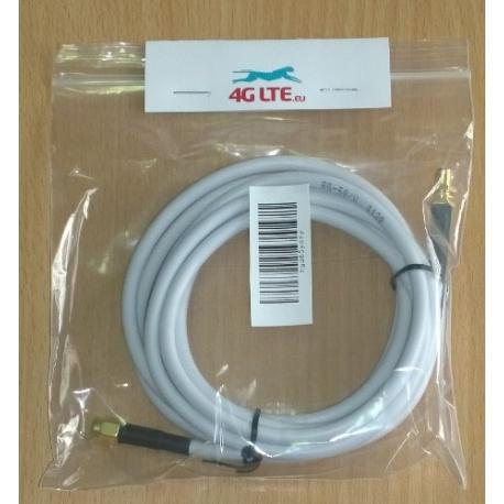 2m - SMA-Stecker auf SMA Buchse RG58 - weiß
