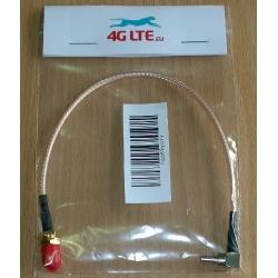 SMA Female à CRC 9 mâle coudée - faible perte RG316 câble