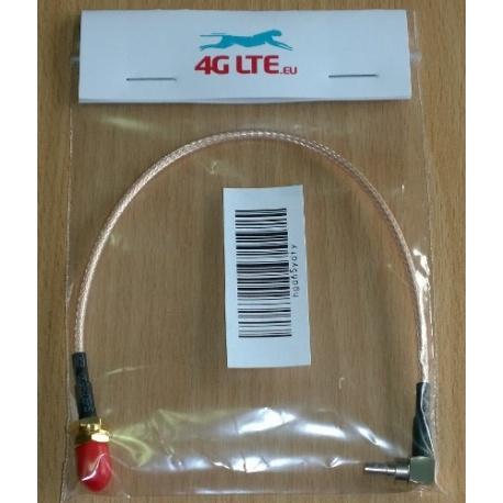 SMA Female a una ángulo recto CRC 9 macho - baja pérdida cable RG316