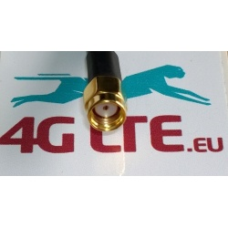 9m RP SMA cable Male to RP SMA Female RG58 - white