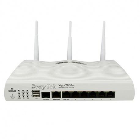 DrayTek Vigor 2860ac, AC1600 Triple-WAN Router - 3G / 4G LTE-Unterstützung