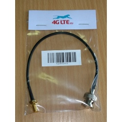 Cable Assembly BNC Male to SMA Female-black cable