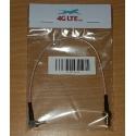Pigtail faible perte RG316 20cm câble SMA femelle (broches mâles) CRC