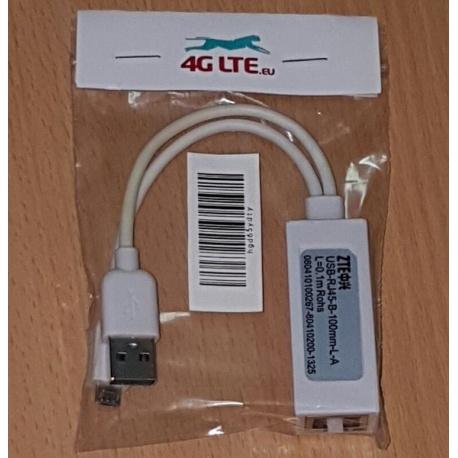 ZTE Micro Cable USB a RJ45 LAN conversión
